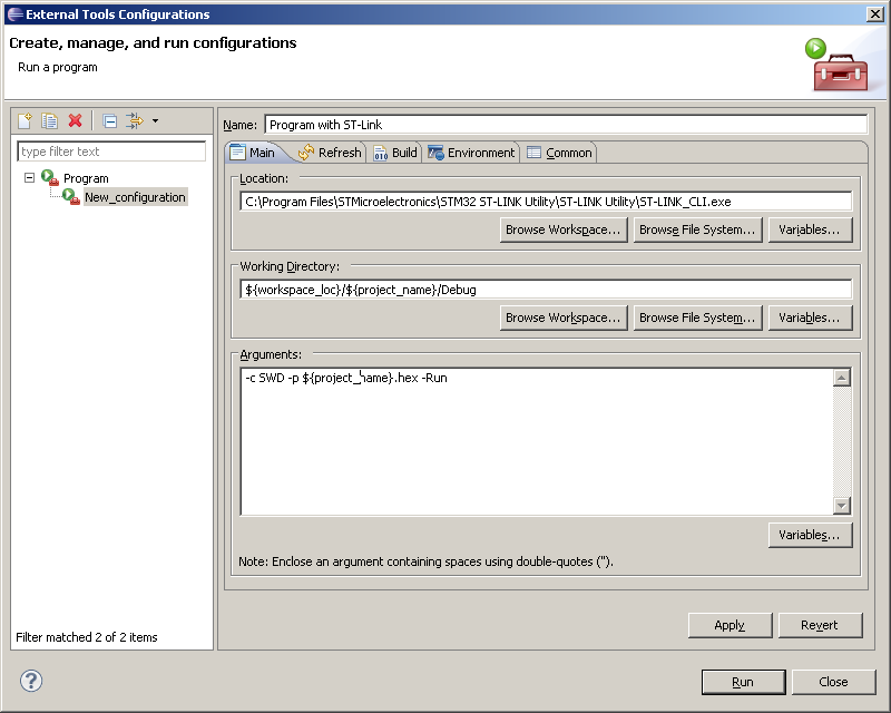 Programming STM32VLDISCOVERY with Codesourcery and Eclipse